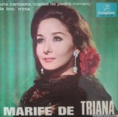 Discos de vinil: MARIFE DE TRIANA. EP. SELLO COLUMBIA. EDITADO EN ESPAÑA. AÑO 1966. Lote 192558331