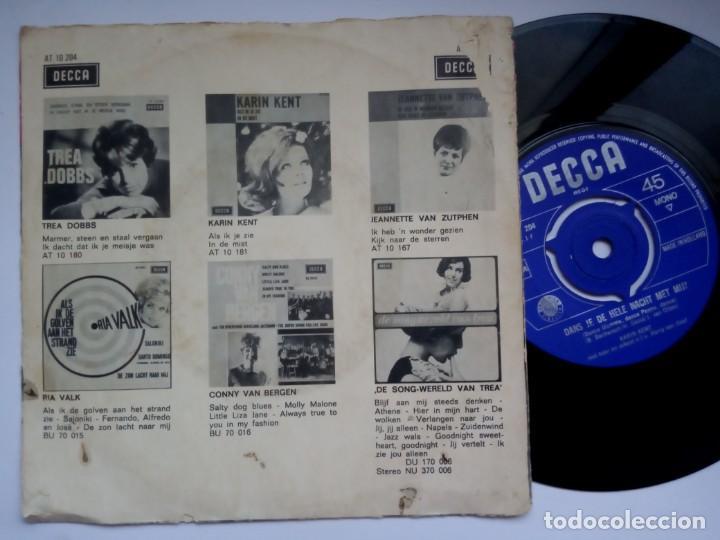 Discos de vinilo: KARIN KENT - dans je de hele nacht met / t is te laat - SINGLE HOLANDES 1966 - DECCA - Foto 2 - 192584756