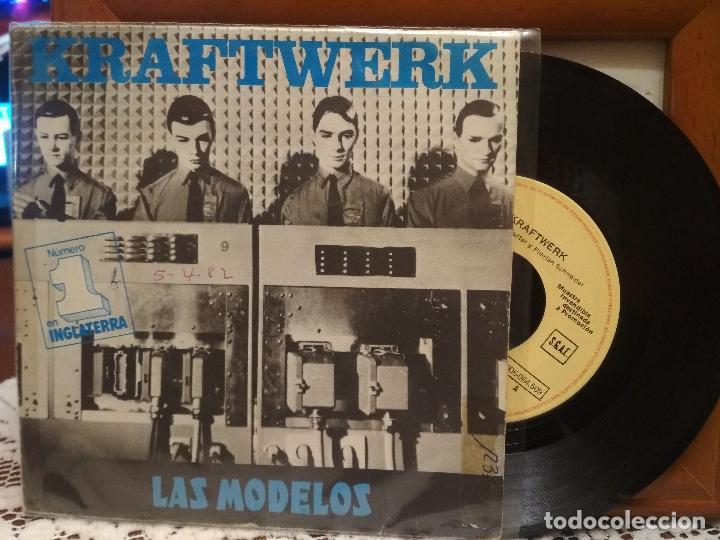 KRAFTWERK LAS MODELOS SINGLE SPAIN 1982 PDELUXE (Música - Discos - Singles Vinilo - Electrónica, Avantgarde y Experimental)