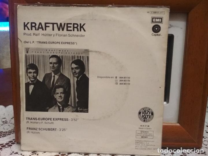 Discos de vinilo: KRAFTWERK TRANS EUROPE EXPRESS SINGLE SPAIN 1977 PDELUXE - Foto 2 - 192596682