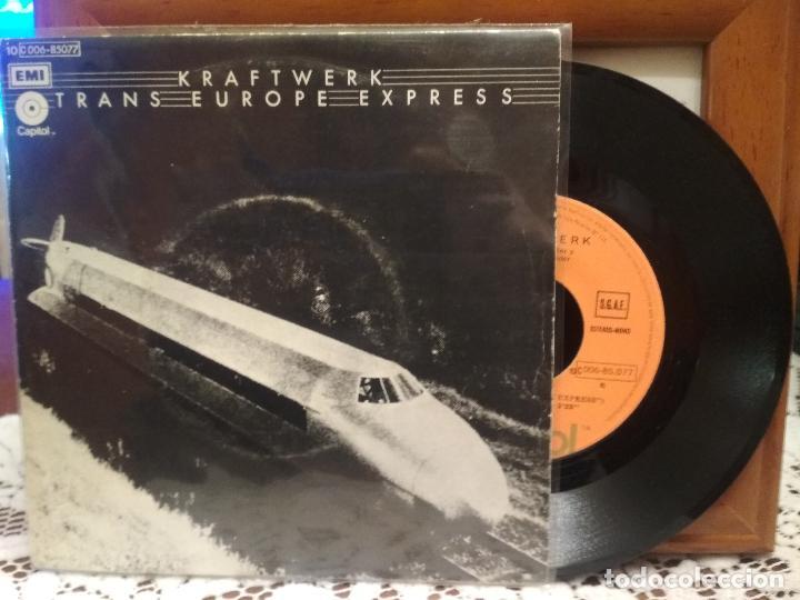 KRAFTWERK TRANS EUROPE EXPRESS SINGLE SPAIN 1977 PDELUXE (Música - Discos - Singles Vinilo - Electrónica, Avantgarde y Experimental)