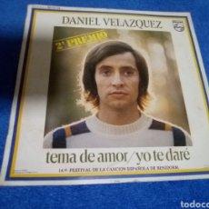 Discos de vinilo: VINILO DANIEL VELÁZQUEZ. Lote 192598818