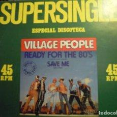 Discos de vinilo: MAXI SINGLE PROMOCIONAL / VILLAGE PEOPLE / SUPERSINGLE ESPECIAL DISCOTECA / 1980 RCA XC 9508 - NUEVO. Lote 192603170