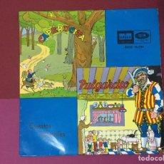 Discos de vinilo: SINGLE CUENTOS INFANTILES, CAPERUCITA Y PULGARCITO. SERIE DISCOS INFANTILES. Lote 192607048