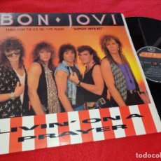 Discos de vinilo: BON JOVI LIVIN ON A PRAYER/WILD IN THE STREETS/EDGE OF A BROKEN HEART 12'' MX 1987 MERCURY SPAIN ESP. Lote 192630135