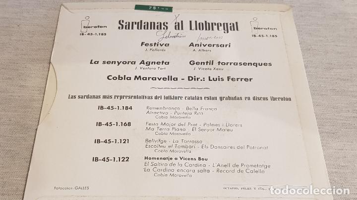 Discos de vinilo: COBLA MARAVELLA / SARDANAS AL LLOBREGAT / EP - IBEROFON-1962 / MBC. ***/*** - Foto 2 - 192635836