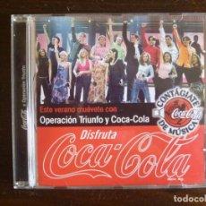 Discos de vinilo: COCA COLA OPERACIÓN TRIUNFO 2002 CD ESPECIAL FOTO GRUPO FIRMAS CONTAGIATE DE MÚSICA. Lote 192647798