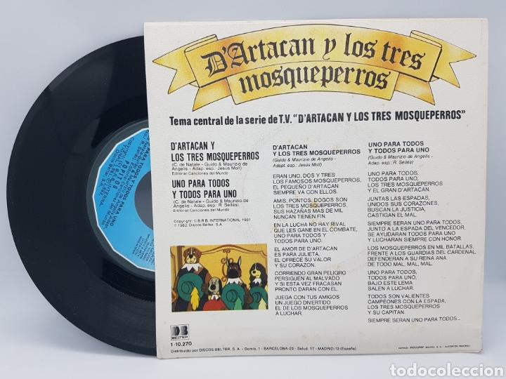 Discos de vinilo: POPITOS - DARTACAN Y LOS TRES MOSQUEPERROS + UNO PARA TODOS Y TODOS PARA UNO - BELTER - 1982 - Foto 2 - 192648750