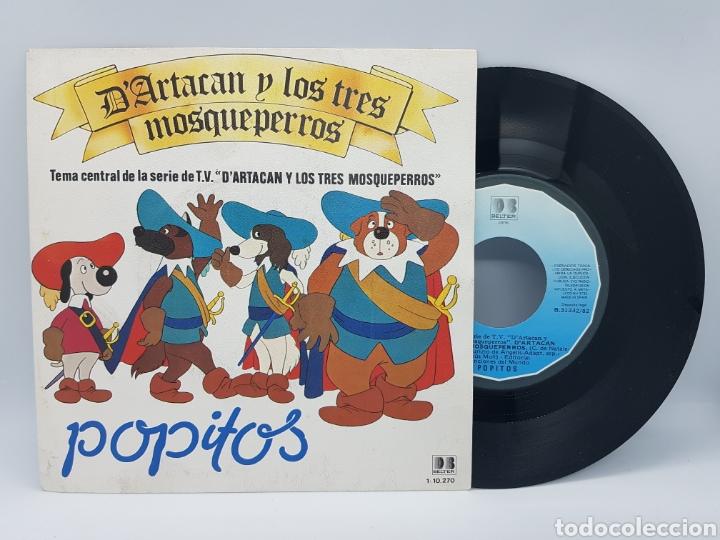 POPITOS - D'ARTACAN Y LOS TRES MOSQUEPERROS + UNO PARA TODOS Y TODOS PARA UNO - BELTER - 1982 (Música - Discos - Singles Vinilo - Música Infantil)