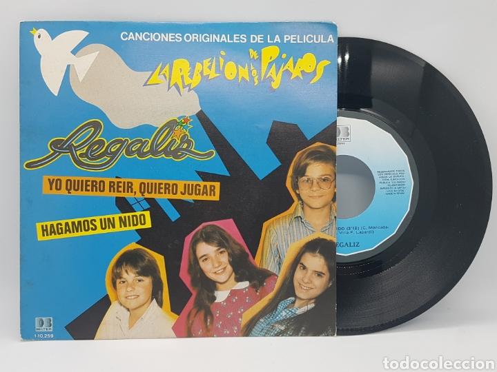 REGALIZ ( LA REBELION DE LOS PAJAROS) YO QUIERO REIR, QUIERO JUGAR + HAGAMOS UN NIDO - BELTER - 1982 (Música - Discos - Singles Vinilo - Música Infantil)