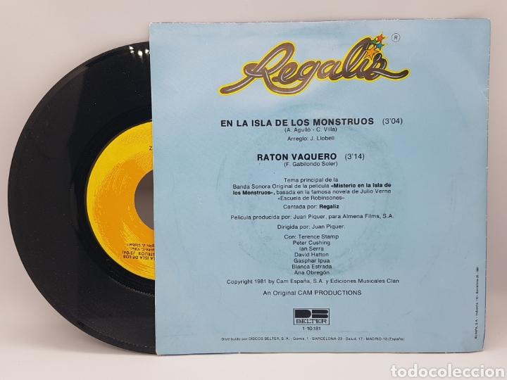Discos de vinilo: REGALIZ ( MISTERIO EN LA ISLA DE LOS MONSTRUOS) EN LA ISLA DE LOS MONSTRUOS + RATON VAQUERO - BELTER - Foto 2 - 192649207