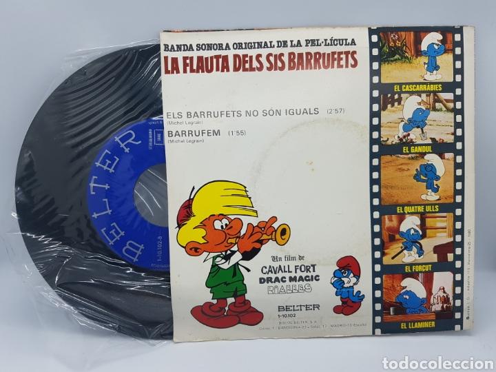 Discos de vinilo: LA FLAUTA DELS SIS BARRUFETS/LA FLAUTA DE LOS PITUFOS: ELS BARRUFETS NO SON IGUALS+BARRUFEM 1980 - Foto 2 - 192649375