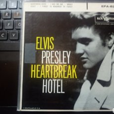 Discos de vinilo: ELVIS PRESLEY ~ HEARTBREAK HOTEL - EPA 821 - 1ª EDICIÓN USA 1956.. Lote 174275502