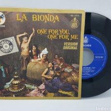 Discos de vinilo: LA BIONDA - ONE FOR YOU, ONE FOR ME + THERE FOR ME - HISPAVOX - 1978 -ESPECIAL DISCOTECAS. Lote 192671671