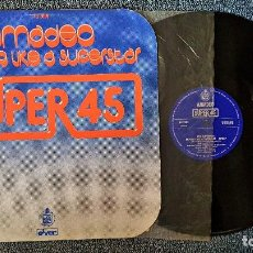 Discos de vinilo: AMADEO - MOVING LIKE A SUPERSTAR/ LET´S MOVE YOUR BODY - MAXI SINGLE. AÑO. 1.977. HISPAVOX. Lote 192674710