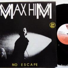Discos de vinilo: MAX HIM. NO ESCAPE. MAXI-SINGLE VICTORIA VIC-203. ESPAÑA 1984. ITALO-DISCO.. Lote 192713256