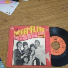Discos de vinilo: THE MARMALADE BABY MAKE IT SOON / TIME IS ON MYN SIDE. Lote 192716955