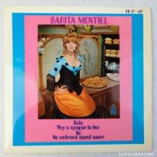 Discos de vinilo: SARITA MONTIEL - SOLA, VOY A APAGAR LA LUZ, NO, NO VOLVERÁ AQUEL AMOR - DISCO VINILO EP 1969. Lote 192717843