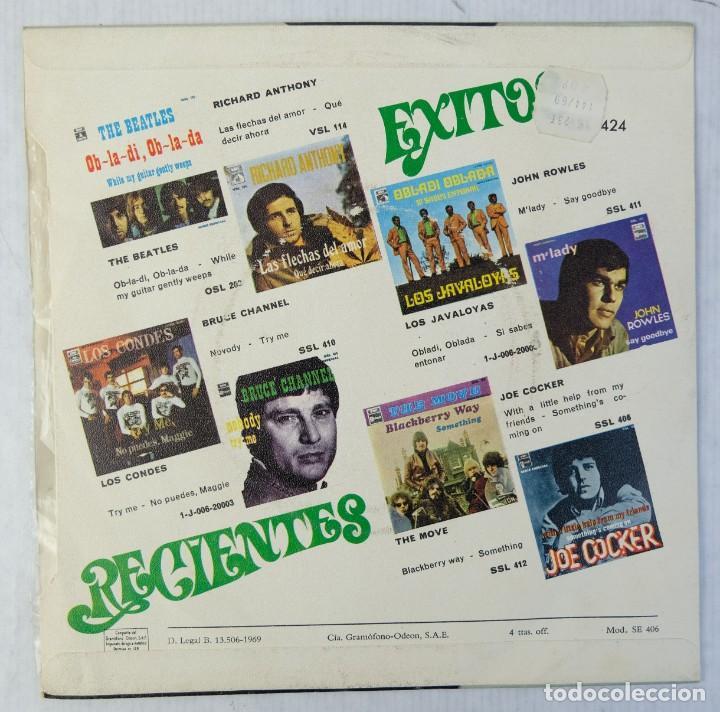 Discos de vinilo: John Rowles - One day - Disco de vinilo EP 1969 - Foto 2 - 192718970