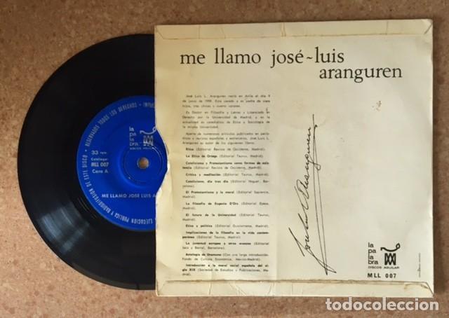 Discos de vinilo: JOSÉ L. LÓPEZ ARANGUREN - Foto 2 - 192755810