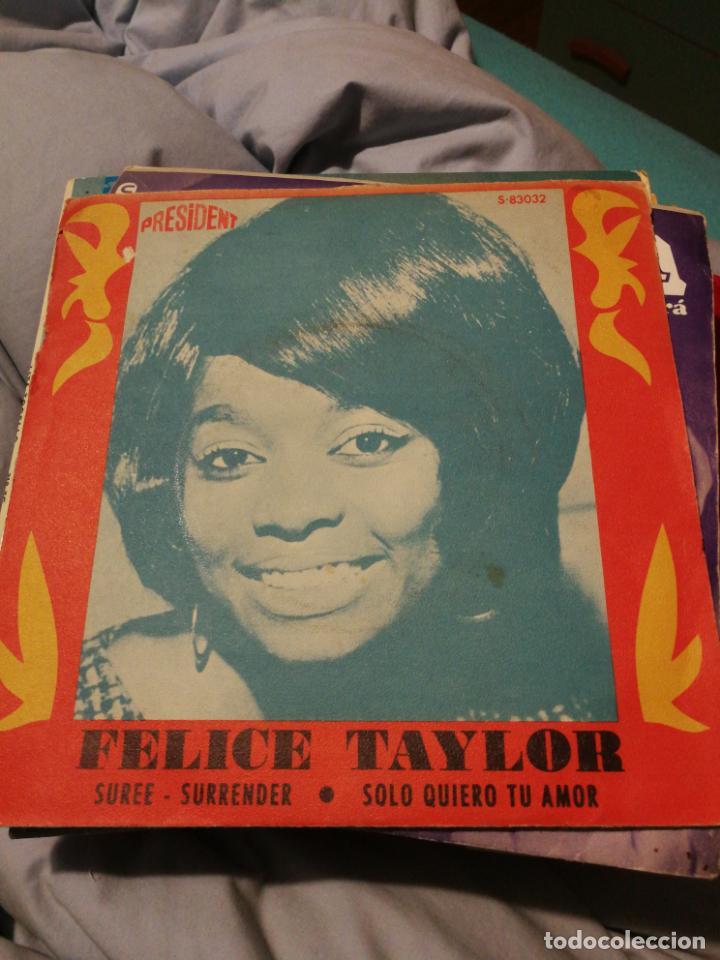 FELICE TAYLOR - SUREE SURRENDER + SOLO QUIERO TU AMOR SG RARO EDITADO POR SINTONIA EN 1968 (Música - Discos - Singles Vinilo - Funk, Soul y Black Music)