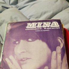 Discos de vinilo: MINA: CANCIÓN PARA TI / DE QUÉ SERVIRÁ (DISCOPHON 1968). Lote 192766117