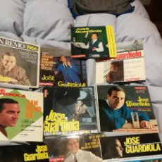 Discos de vinilo: 10 SINGLES DE JOSE GUARDIOLA AÑOS 60 GOLDFINGER JAMES BOND, SAN REMO, FESTIVAL MEDITERRANEO, ETC.. Lote 192767886