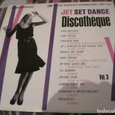 Discos de vinilo: LP JET SET DANCE DISCOTHEQUE VOL.3 AUDIO FIDELITY DFS 7041 USA 1964. Lote 192772138