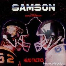 Discos de vinilo: SAMSON LP FEATURING BRUCE DICKINSON ?– HEAD TACTICS HEAVY METAL. Lote 192787167
