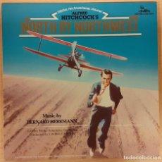Discos de vinilo: CON LA MUERTE EN LOS TALONES (NORTH BY NORTHWEST) BERNARD HERRMANN COMO NUEVO!!!. Lote 192801067