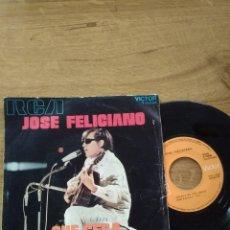 Discos de vinilo: JOSÉ FELICIANO / QUE SERÁ / THERE´S NO ONE ABOUT. Lote 192803540