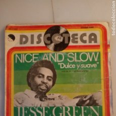 Discos de vinilo: NICE AND SLOW. JESSE GREEN.. Lote 192815785