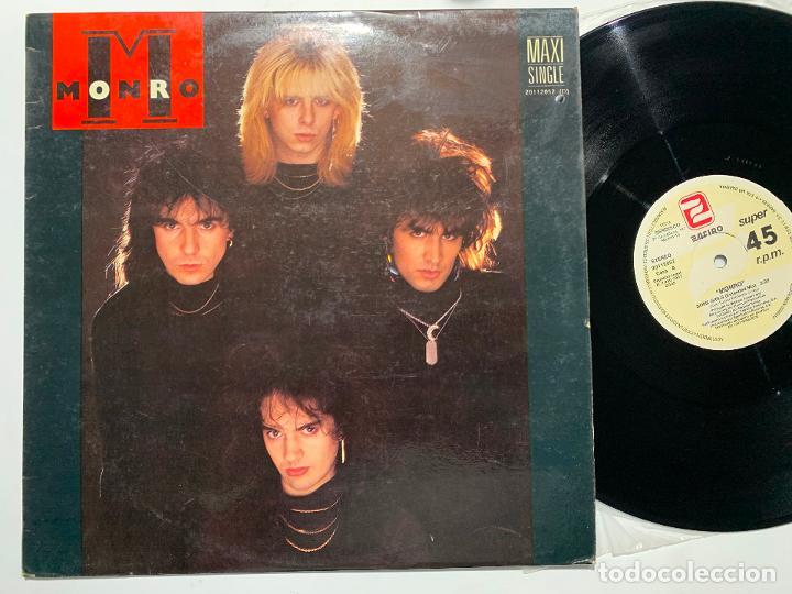 MAXI SINGLE 12'' VINILO MONRO EDICION ESPAÑOLA DE 1987 (Música - Discos de Vinilo - Maxi Singles - Heavy - Metal)