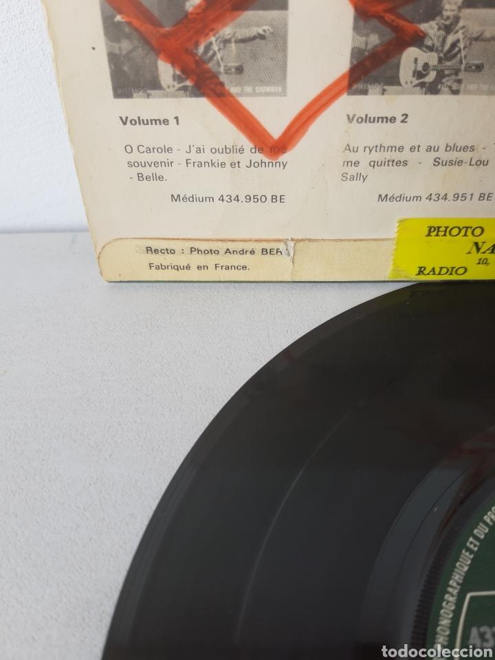 Discos de vinilo: EP JOHNNY HALLYDAY. QUAND REVIENT LA NUIT. + 3 TEMAS. PHILIPS. 437.054 BE. FRANCE. - Foto 3 - 192861613