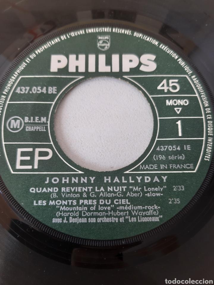 Discos de vinilo: EP JOHNNY HALLYDAY. QUAND REVIENT LA NUIT. + 3 TEMAS. PHILIPS. 437.054 BE. FRANCE. - Foto 4 - 192861613