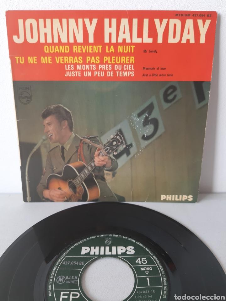 EP JOHNNY HALLYDAY. QUAND REVIENT LA NUIT. + 3 TEMAS. PHILIPS. 437.054 BE. FRANCE. (Música - Discos de Vinilo - EPs - Canción Francesa e Italiana)