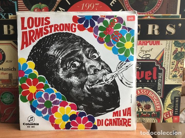 LOUIS ARMSTRONG - MI VA DI CANTARE (SINGLE) (COLUMBIA) ME 382 (D:NM/C:NM) (Música - Discos - Singles Vinilo - Otros Festivales de la Canción)