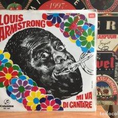 Discos de vinilo: LOUIS ARMSTRONG - MI VA DI CANTARE (SINGLE) (COLUMBIA) ME 382 (D:NM/C:NM). Lote 192866741