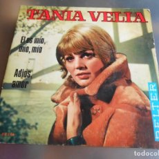 Discos de vinilo: TANIA VELIA, SG, EL ES MÍO, MIO, MÍO + 1, AÑO 1969 . Lote 192878607