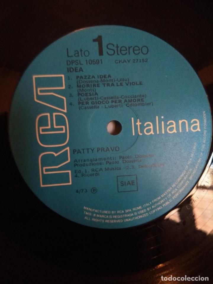 Discos de vinilo: LP PATTY PRAVO : PAZZA IDEA ( EDICION ORIGINAL ITALIANA DE 1973, CONTENIENDO ALBUM DE DIBUJOS - Foto 7 - 47082282