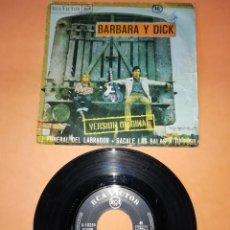 Discos de vinilo: BARBARA Y DICK. EL FUNERAL DEL LABRADOR. VERSION ORIGINAL. RCA VICTOR 1967.. Lote 192896625