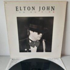 Discos de vinilo: ELTON JOHN. ICE ON FIRE. GEFFEN RECORDS. GHS 24077. USA.. Lote 192900603