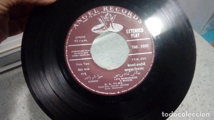 Discos de vinilo: VINILO MUSICA INDIA JIS DESH MEN GANGA BETHI HAI ANGEL RECORDS - Foto 3 - 192901051