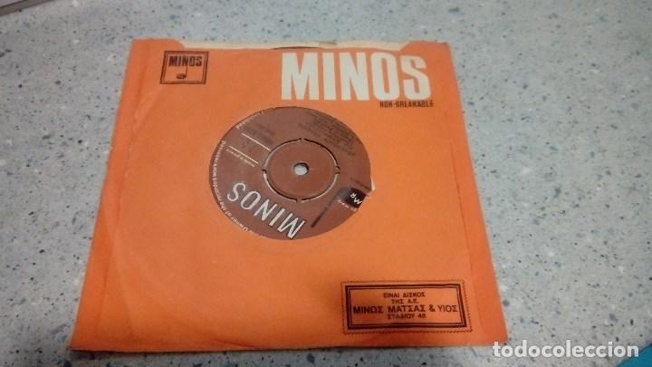 DISCO VINILO MUSICA GRIEGA MINOS AÑOS 70 (Música - Discos - Singles Vinilo - Étnicas y Músicas del Mundo)