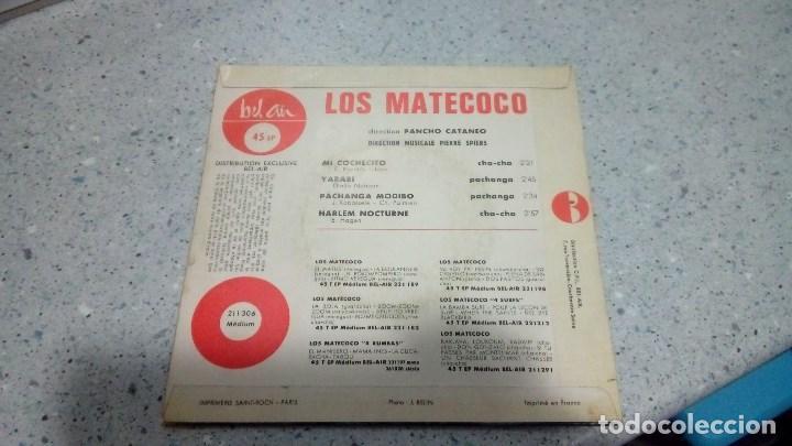 Discos de vinilo: DISCO VINILO LOS MATECOCO MI COCHECITO - YARABI - DISTRIBUCION BEL AIR MEDIUM - Foto 2 - 192901891