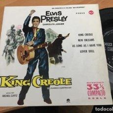 Discos de vinilo: ELVIS PRESLEY (KING CREOLE +3) EP ESPAÑA 1961 33 RPM 33022 RCA SOLID CENTRE (EPI15). Lote 192909303