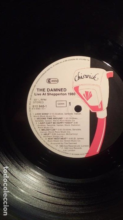 Discos de vinilo: THE DAMNED - LIVE SHEPPERTON 1980 . - Foto 4 - 192920096