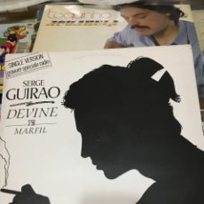 Discos de vinilo: SERGE GUIRAO-DEVINE-1987-MAXI PROMO RARO-SIN USO. Lote 192927120