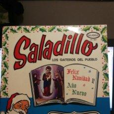 Discos de vinilo: SALADILLO LOS GAITEROS DEL PUEBLO MALATOBO VENEZUELA FELIZ NAVIDAD Y AÑO NUEVO LA FONOGRAFICA. Lote 192940893