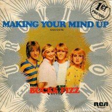 Discos de vinilo: BUCKS FIZZ / MAKING YOUR MIND / DON'T STOP (SINGLE 1981). Lote 192955012